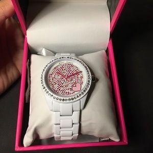 *NEW* Betsey Johnson mixed stone women's watch